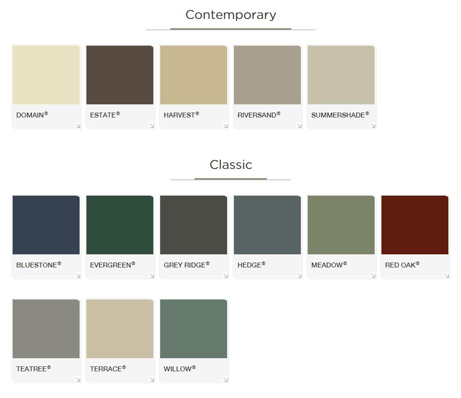 colorbond gate colours