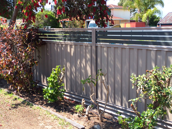 Image of Colorbond security fencing at a home